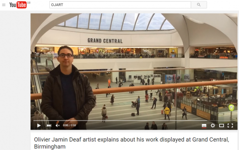 Capture - OJ explain about his work displayed at Grand Central in Birmingham Feb 2016