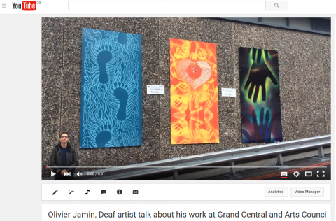 Capture - Olivier Jamin, Deaf Artist talk about his work at Grand Central 2016