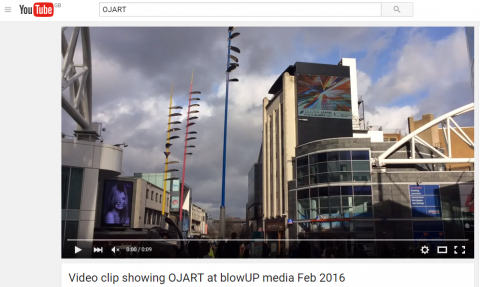 Capture - video clip showing OJART at blowUP media Feb 2016