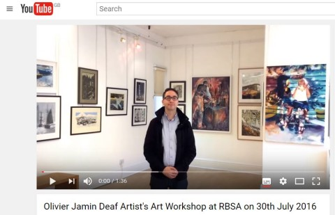 Capture BSL video about RBSA workshop 30th July 2016